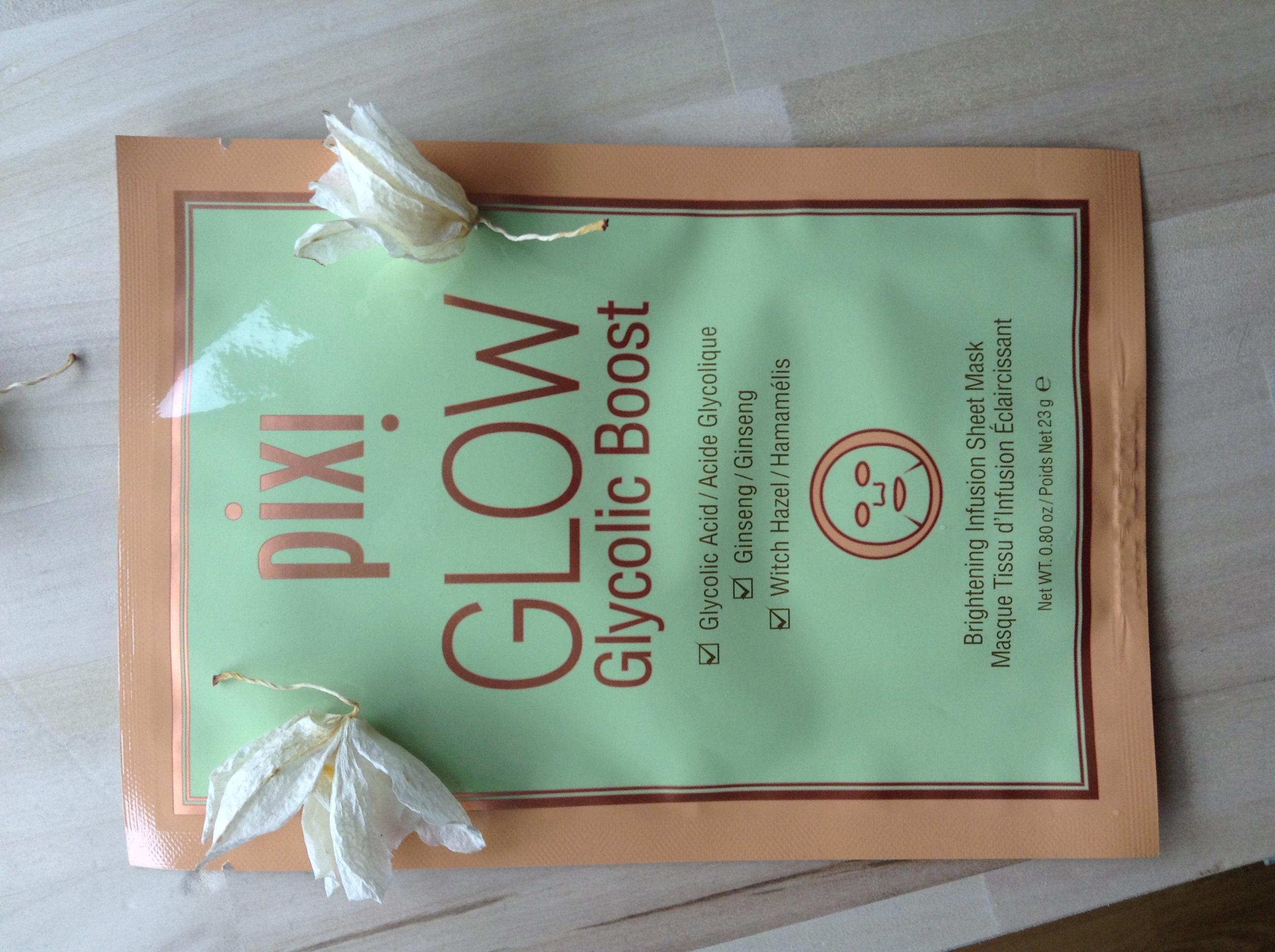Skincare Sunday: Pixi Glow Glycolic Boost sheetmask