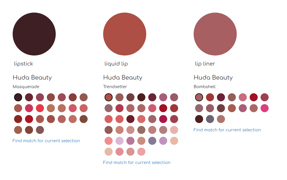 New on lipcolourmatch.com: Huda Beauty